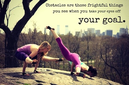 Quotes about health - Obstacles are those frightful things you see when you take your eyes off your goal.