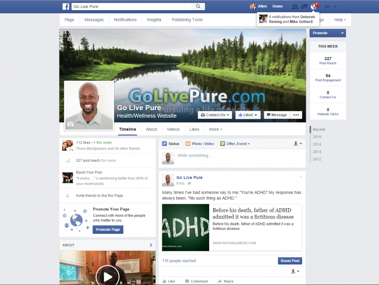 GoLivePure on Facebook