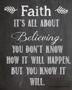faith quote -go live pure