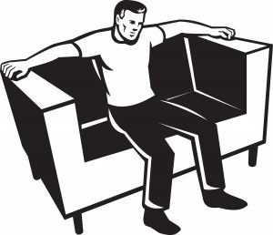man-sitting-on-couch-chair