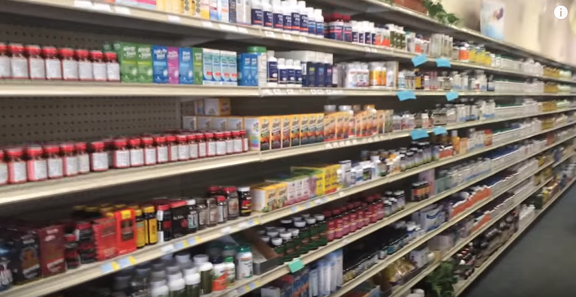blue sky nutrition supplements on shelf Florissant, MO USA