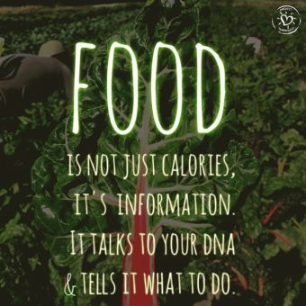 Food is not just calories it's information that talks to you DNA and tells it what to do