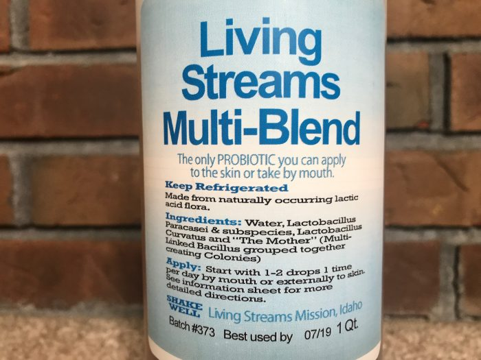 LLiving Streams Multi Blend Liquid Probiotic Label 32oz Refill bottle