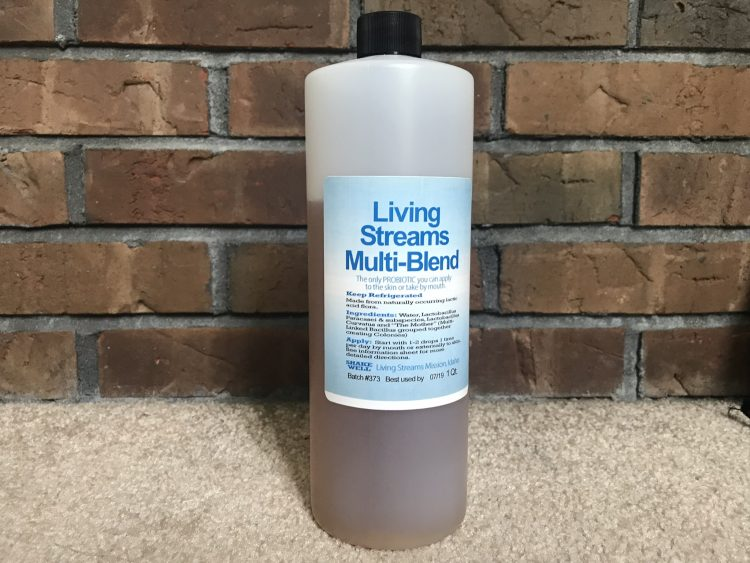 Living Streams Multi Blend Liquid Probiotic Bottle 32oz refill bottle